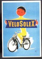REF 469 : CPM Repro Affiche Ancienne Vélo Solex Par René RAVO - Publicité