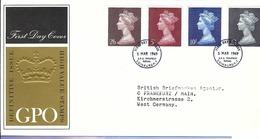 GRANDE BRETAGNE 1969: FDC Avec Les 4 Hautes Valeurs à L'effigie De La Reine E. II - 1952-.... (Elizabeth II)