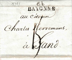Lac De Bayonne [64] Vers Gand En Février 1799 15 De Port - 1701-1800: Precursors XVIII