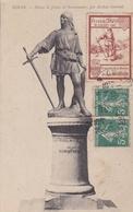 DINAN  (22) Statue De Jehan De Beaumanoir . Vignette - Dinan
