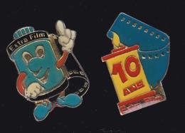 63290-lot De 2 Pin's.Extra Film.Photo.. - Fotografie