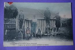 CPA 33 LAMOTHE DU TEICH Famille De Résiniers Landais Revenant Travail RARE ANIMEE METIERS CAMPAGNE Canton GUJAN-MESTRAS - France