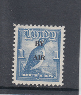 #01 Great Britain Lundy Puffin Stamp 1951-53 By Air Wide Overprint 69A-76A 1p Mint. Free UK P+p! Offers? - Local Issues