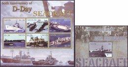 NEVIS - SHIPS - D DAY - SEACRAFT - WW2 - **MNH - 2004 - Barcos