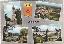 CPSM ABZAC(33)écrite-multivues - France