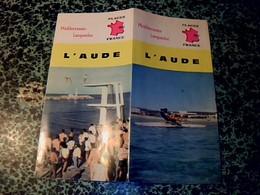 Vieux Papiers Dépliant Touristique Année ? édition Plages De France L'Aude - Dépliants Touristiques