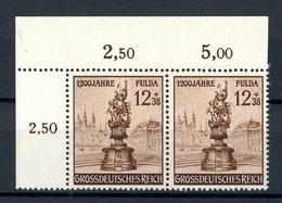 Deutsches Reich Abart MiNr. 886 I Eckrand Ol Postfrisch MNH Gep. Peschl (D155 - Abarten