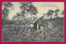 CPA Bourganeuf - Charbonniers Dans La Forêt De Mérignat - Bourganeuf