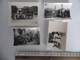 4 Photographies De Soldats Français En Indochine En Juillet 1950 - Guerre, Militaire