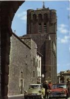 CPSM Grand Format  AGDE (Herault) La Cathedale St Etienne Voiture DS  Et Mini Cooper Colrisée RV - Agde