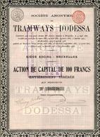 TRAMWAYS D'ODESSA; Action De 1908 - Chemin De Fer & Tramway