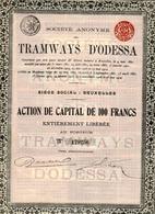 TRAMWAYS D'ODESSA; Action De 1912 - Chemin De Fer & Tramway