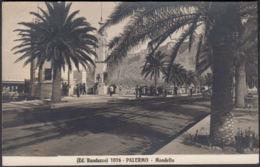AK Ed Randazzo Palermo Mondello Straßenansicht, Gelaufen 1928 - Palermo