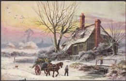 AK Tuck's Karte Oilette Winterlandschaften, Gelaufen 1906 - Tuck, Raphael