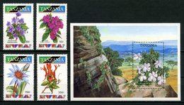 TANZANIE 1993 N° 1244/1247 Bloc 193 ** Neufs MNH Superbes C 11.50 € Flore Fleurs Saintpaulia Streptocarpus Saxorum Flowe - Tansania (1964-...)