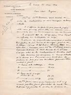 LE MANS SYNDICAT D INITIATIVE DES ALPES MANCELLES LETTRE MME TACHEAU RUE BOLLE LE MANS ANNEE 1920 - Non Classés