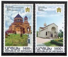 Armenia (Nagorno-Karabakh) 2020 .   Churches Of Stepanakert . 2v:400,400 - Armenien