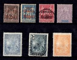 Madagascar Sept Bonnes Valeurs Anciennes Neufs * Et Oblitérés 1895/1901. B/TB. A Saisir! - Unused Stamps