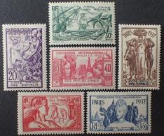R2740/166 - 1937 - PROTECTORAT - CÔTE DES SOMALIS - SERIE COMPLETE - N°141 à 146 NEUFS* - Nuovi