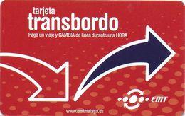 CARTE TRANSPORT AUTOBUS MALAGA ESPAGNE UN VOYAGE UNE HEURE - Biglietti Di Trasporto