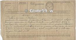 Télégramme Du 17-12-1918 - Préfet Arras à Maire De Breloux-la-Crèche - Transport Réfugiée DESQUIEN ? Philippine Vve DUPO - Vieux Papiers