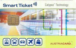 CARTE A PUCE CHIP CARD TRANSPORT METRO AUTOBUS TRAMWAY VIENNE AUTRICHE  SMART TICKET - Titres De Transport