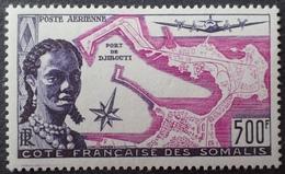 R2740/170 - 1956 - PROTECTORAT - CÔTE DES SOMALIS - POSTE AERIENNE - N°25 NEUF* - Cote (2020) : 68,00 € - Nuovi
