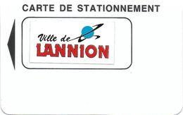 CARTE STATIONNEMENT BANDE MAGNÉTIQUE VILLE DE LANNION  (AUTOCOLLANT) 22 COTE D'ARMOR - Francia