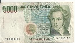 ITALIE 5000 LIRE 1985 VF P 111 B - [ 2] 1946-… : Repubblica