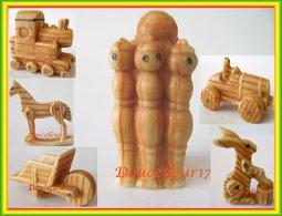 Jouets Traditionnels ... 6 Fèves Imitation Bois... Ref. AFF : 89-2004 ..( Pan 005) - Storia