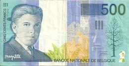 BELGIQUE 500 FRANCS ND1998 VF P 149 - [ 2] 1831-... : Reino De Bélgica