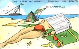 N°5044 T -carte à Systèmes -sous L'echo Des Plages Beautés De Champeaux (50) - Mechanical