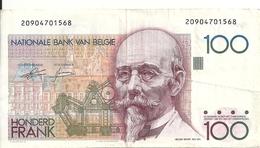 BELGIQUE 100 FRANCS ND1982-94 VF P 142 - [ 2] 1831-... : Reino De Bélgica