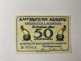 Allemagne Notgeld Koberg 50 Pfennig - [ 3] 1918-1933 : République De Weimar