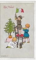 CARD MESCHINI G. BUON NATALE ALBERO BIMBO ALPINO CON BANDIERA ITALIANA GIOCATTOLI-FP-V-2-0882-29419 - Otros Ilustradores