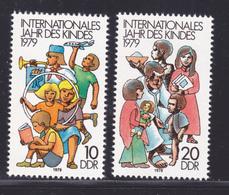 ALLEMAGNE ORIENTALE N° 2087 & 2088 ** MNH Neufs Sans Charnière, TB, Année De L'enfant UNICEF 1979 (D9062) - Neufs