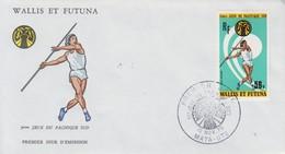 Enveloppe   FDC  1er  Jour     WALLIS  Et  FUTUNA    5émes  JEUX  DU  PACIFIQUE  SUD   1975 - FDC