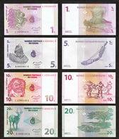 CONGO DEMOCRATIC REPUBLIC - 1+5+10+20 Centimes 01.11.1997 UNC P.80+81+82+83 - République Démocratique Du Congo & Zaïre