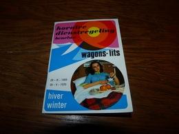 Dépliant Touristique  Chemin De Fer SNCB Horaire Wagons-lits Benelux 1969-1970 32 Pages - Tourism Brochures