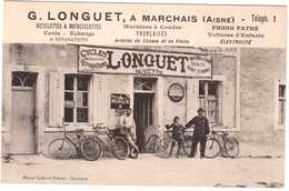 CPA AISNE.MARCHAIS.G.LONGUET.BUVETTE.BICYCLETTES.MACHINE A COUDRE.PHONO PATHE.VOITURE D'ENFANT.ARTICLES DE CHASSE - Autres Communes