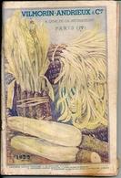 Catalogue Graines Semences Légumes Fleurs 1933 Vilmorin Andrieux Et Cie Quai De La Mégisserie - Tuinieren