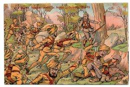Guerre 1914-18 / Les SICKS INDIENS Dans Le Nord (corps à Corps), Illustrateur E. MULLER. - Guerre 1914-18