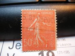 Timbre   SEMEUSE LIGNÉE 50 C Rouge. Bd Des Capucines - 1903-60 Semeuse Lignée