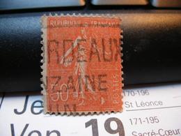 Timbre   SEMEUSE LIGNÉE 50 C Rouge. BORDEAUX - 1903-60 Semeuse Lignée