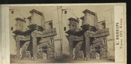 Carte Stereo   Rome Temple De Minerve - Piazze