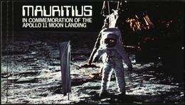 MAURITIUS 1979 10th Anniversary Of Apollo 11 Moon Landing Space Complete Prestige Booklet Carnet S/A MNH - Otros