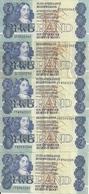 AFRIQUE DU SUD 2 RAND ND1981-90 VF+ P 118 Sign6 ( 5 Billets ) - Afrique Du Sud