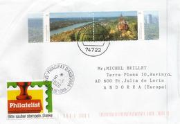 Le Rhin à Bonn,  Sieben Mountains, Sur Lettre 2020 Allemagne, Adressée Andorra - Geography