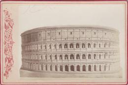 Photographies - XIXème Siècle - Photographe Formato Gabinetto - Milano - Arènes Réparées - Archéologie - Fotografia