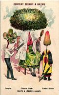 3 Cards Litho 1890 Vegetable Veggie People Fruit Dressed Food Anthropomorphic VG Nèfle Grande Citron Piment Pourpier - Other